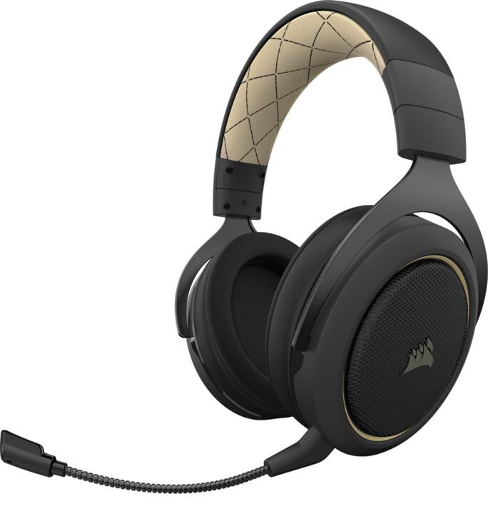 Corsair HS70 Pro Wireless, krémová