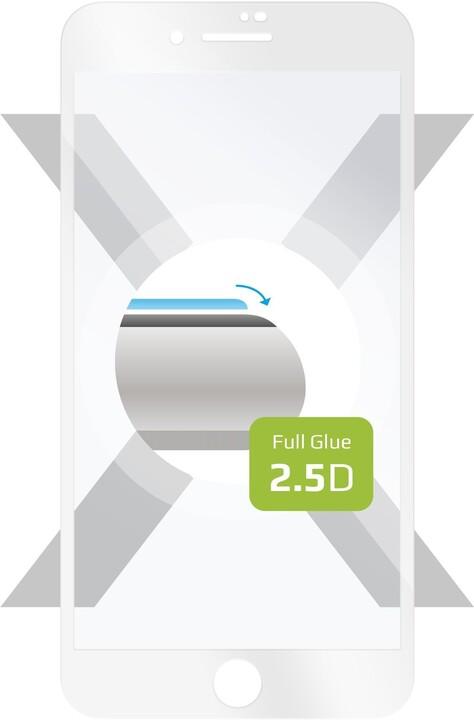 FIXED ochranné tvrzené sklo Full-Cover pro iPhone 7 Plus/8 Plus, lepení přes celý displej, bílá