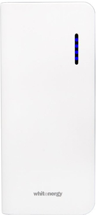 Whitenergy Power Bank 10000mAh 2.1A Li-Ion, bílá