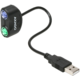 AXAGON USB2.0 - 2x PS/2 adapter