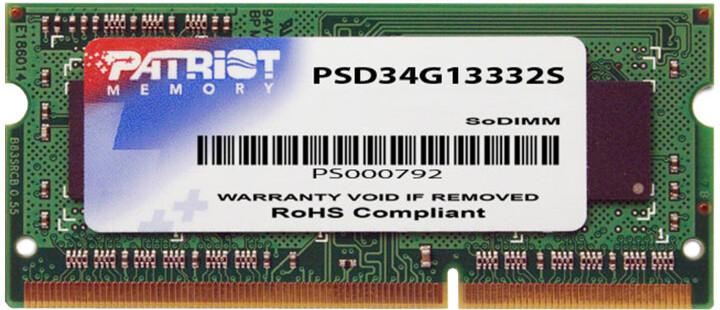Patriot Signature Line 4GB DDR3 1333 CL9 SO-DIMM