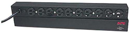 APC rack PDU, 1U, 15A, 120V, (10)5-15
