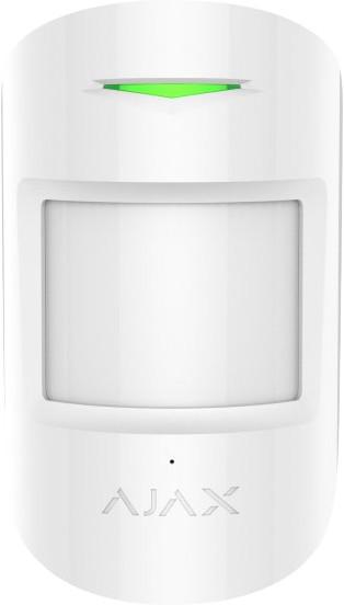 BEDO AJAX CombiProtect - Bezdrátový kombinovaný PIR detekce pohybu a tříštění skla, bílá