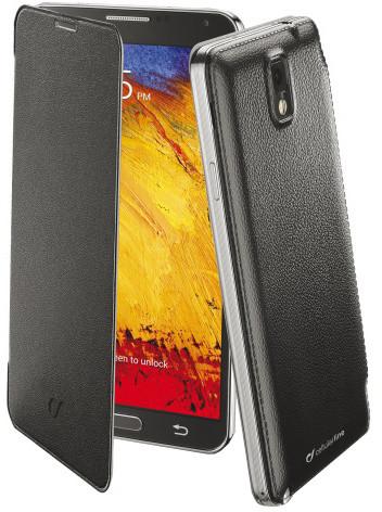 CellularLine Backbook flipové pouzdro pro Galaxy Note 3, černá
