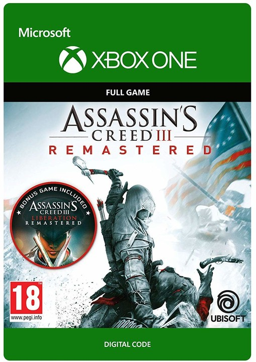 Assassin's Creed III: Remastered (Xbox ONE) - elektronicky