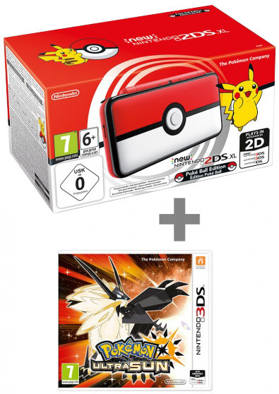 Nintendo New 2DS XL, Pokéball Edition + Pokémon Ultra Sun