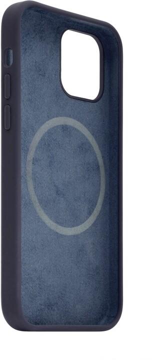 FIXED tvrzený silikonový kryt MagFlow pro iPhone 12 mini, komaptibilní s MagSafe, modrá