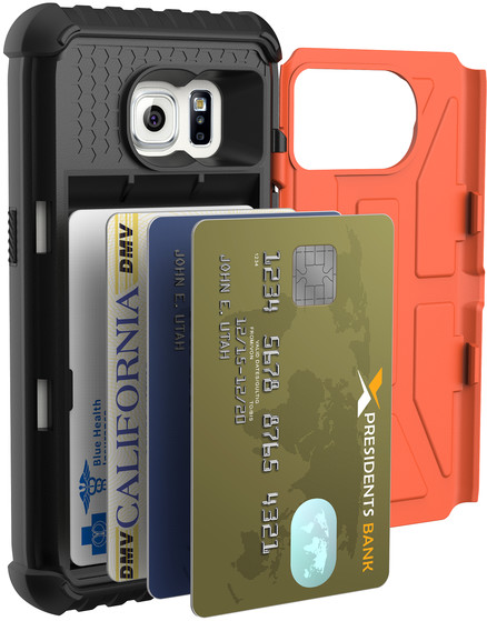 UAG card case Outland, orange - Galaxy S7