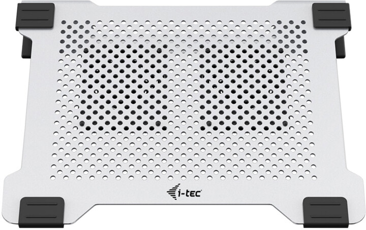 i-Tec Aluminium Laptop Cooling Pad chladící podložka pro notebooky se dvěma ventilátory