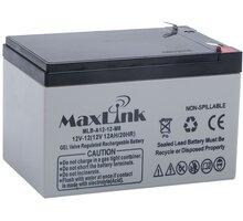 MaxLink baterie AGM 12V/12Ah, olověný akumulátor F2 - MLB-A12-12