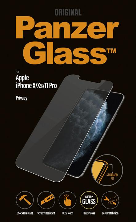PanzerGlass Standard Privacy pro Apple iPhone X/Xs/11 Pro, čiré