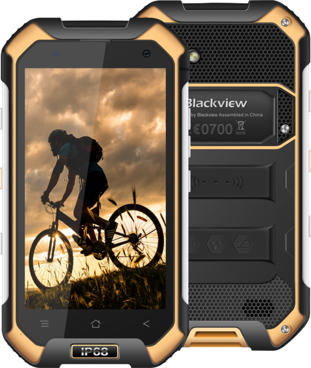 iGET BLACKVIEW BV6000s - 16GB, Dual SIM, LTE, žlutá