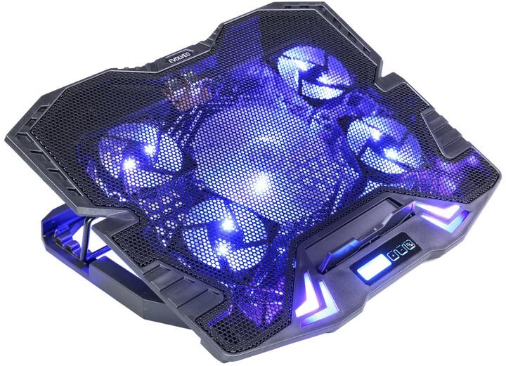 Evolveo ANIA 5 chladicí podstavec pro notebook, modré podsvícení