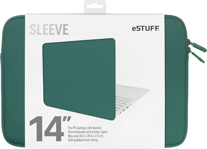 eSTUFF Ultrabooks, Chromebooks 14'' Sleeve - Fits PC Laptops, oasis