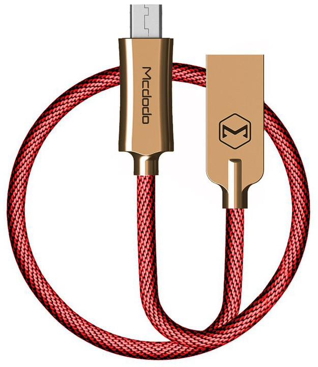 Mcdodo Knight datový kabel microUSB, 2m, červená