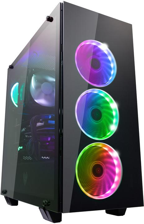 Fortron CMT510, průhledná bočnice, 4x RGB LED 120mm, černá