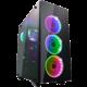 Fortron CMT510, průhledná bočnice, 4x RGB LED 120mm, černá  + Voucher až na 3 měsíce HBO GO jako dárek (max 1 ks na objednávku)