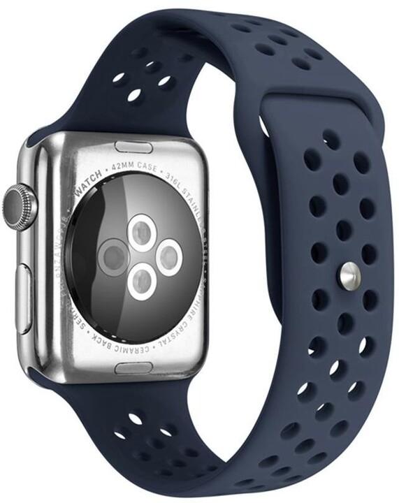 MAX silikonový řemínek MAS43 pro Apple Watch, 42/44mm, modrá