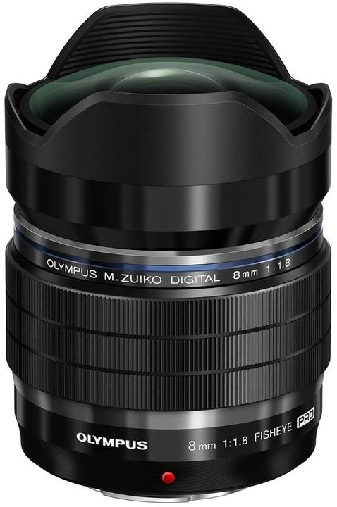 Olympus M. ZUIKO DIGITAL 8mm f/1.8 PRO, černá