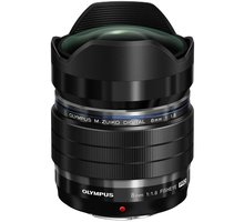 Olympus M. ZUIKO DIGITAL 8mm f/1.8 PRO, černá - V312030BW000