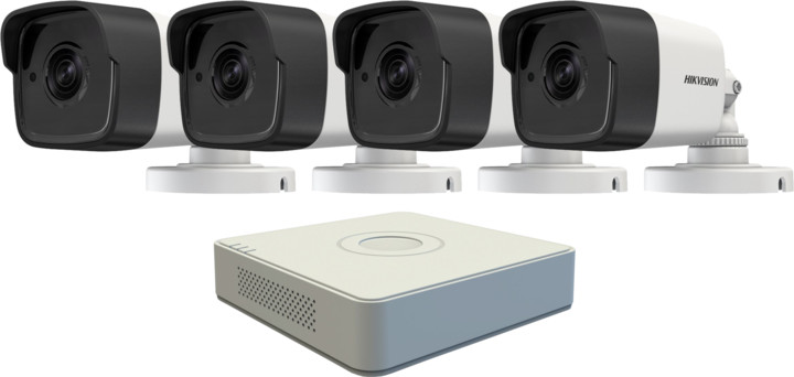 Hikvision DS-7108HQHI-F1/N, 8-kanálový AHD DVR + 4x DS-2CE16D7T-IT kamera FHD1080p, IP66, 3,6m