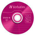 Verbatim DVD-R 4,7GB 16x colour slim 5ks