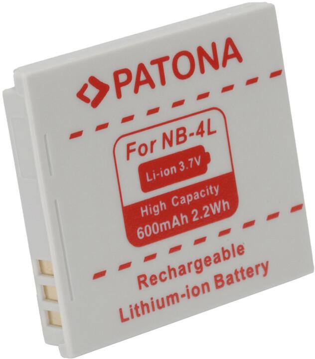 Patona baterie pro Canon, NB-4L 600mAh