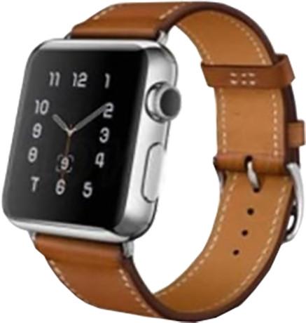 ESES kožený řemínek 42mm pro Apple Watch, hnědá