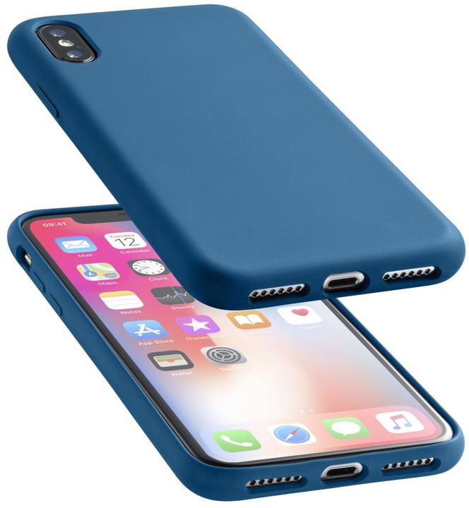 CellularLine ochranný silikonový kryt SENSATION pro iPhone X, modrý