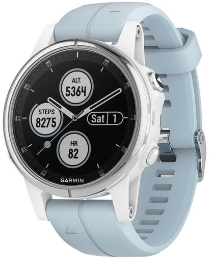 GARMIN fenix5S Plus, White with Seafoam Band