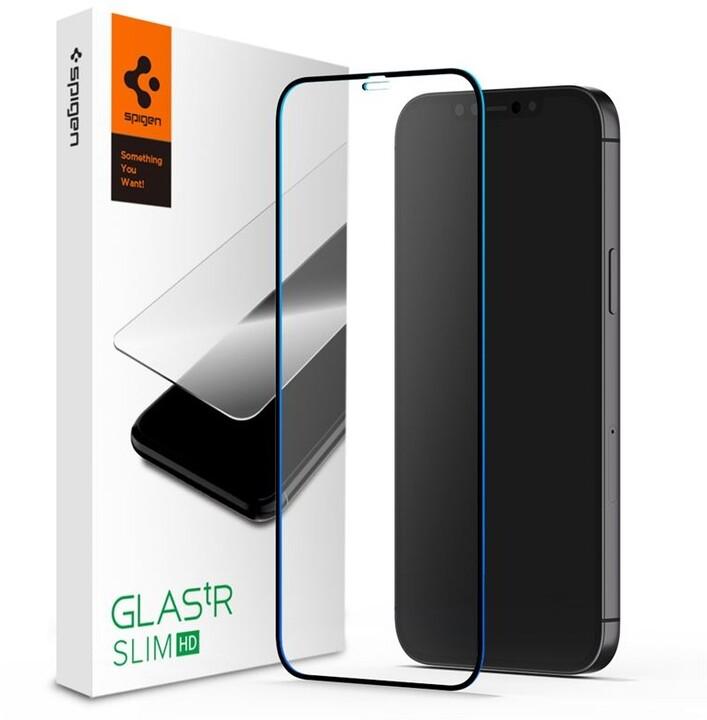 Spigen ochranné sklo FC HD pro iPhone 12 mini, černá