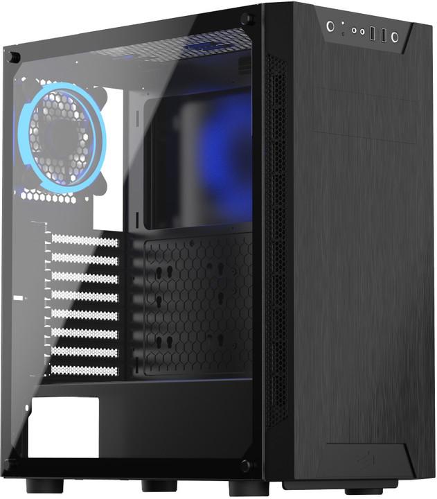 SilentiumPC Armis AR5 TG RGB, okno, černá