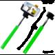 C-TECH Teleskopický selfie držák MP107G, Bluetooth, zelená