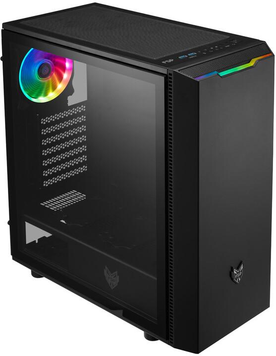 Fortron CMT350, průhledná bočnice, 1x ARGB LED 120mm, černá