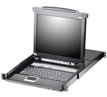 """ATEN CL5708 - 8-portový KVM switch (USB i PS/2), 19"""" LCD, US klávesnice - CL5708N-ATA-2XK06A1G"""