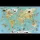Školní pomůcka Vilac Nástěnná mapa světa, magnetická, dřevěná