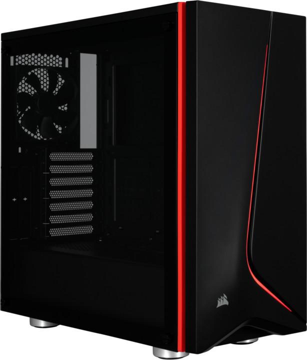 Corsair Carbide Series Spec-06, Tempered Glass, černá