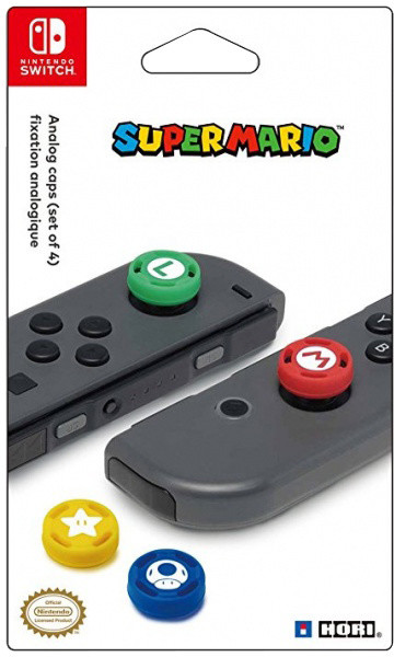 Hori Joy-Con Analog Stick Caps - Super Mario (SWITCH)