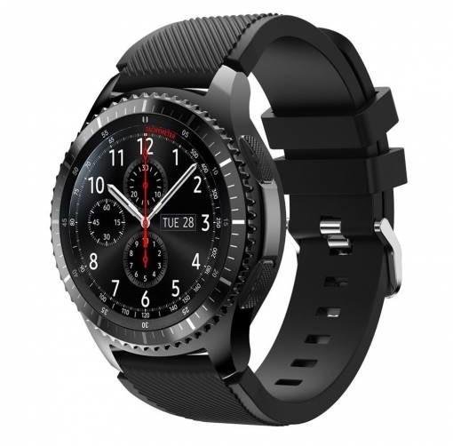 ESES silikonový řemínek pro Samsung Galaxy watch 46mm/samsung gear s3, černá