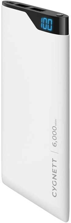 Cygnett Power Bank 6000mAh, white
