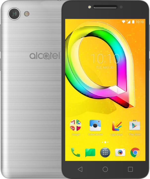 ALCATEL A5 LED, stříbrná