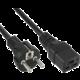 PremiumCord kabel síťový k počítači 230V 16A 1,5m IEC 320 C19 konektor