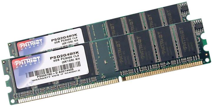 Patriot Signature Line 2GB (2x1GB) DDR 400 CL3