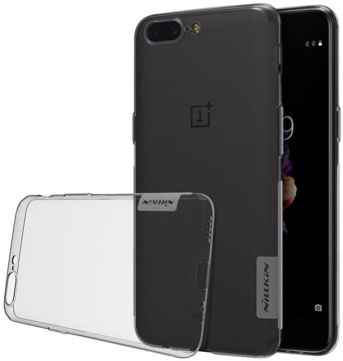 Nillkin Nature TPU Pouzdro pro OnePlus 5T, šedá