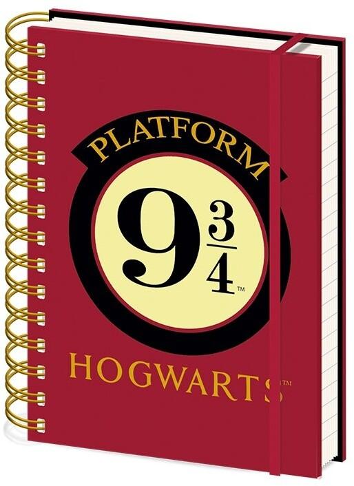 Zápisník Harry Potter - Platform 9 3/4, linkovaný, kroužková vazba, A5