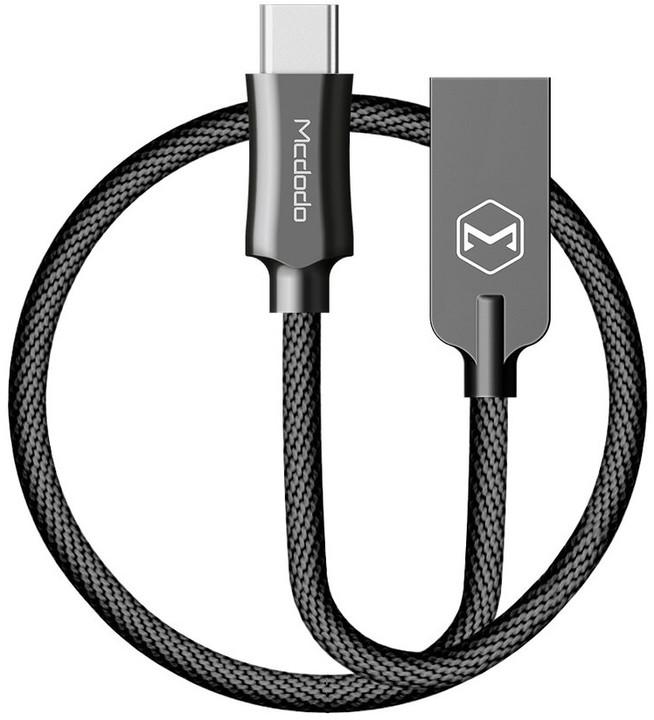 Mcdodo Knight datový kabel USB-C, 1.5m, černá