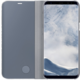 Samsung S8+, Flipové pouzdro Clear View se stojánkem, stříbrná