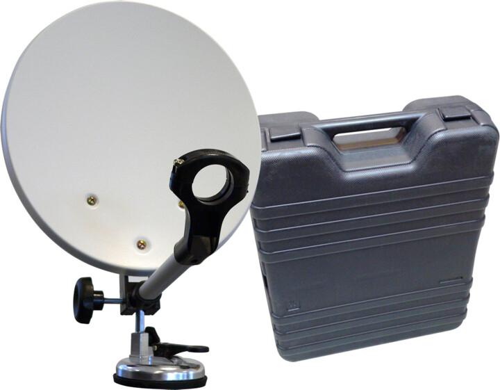 Maximum 35cm, mobilní parabola, kufr