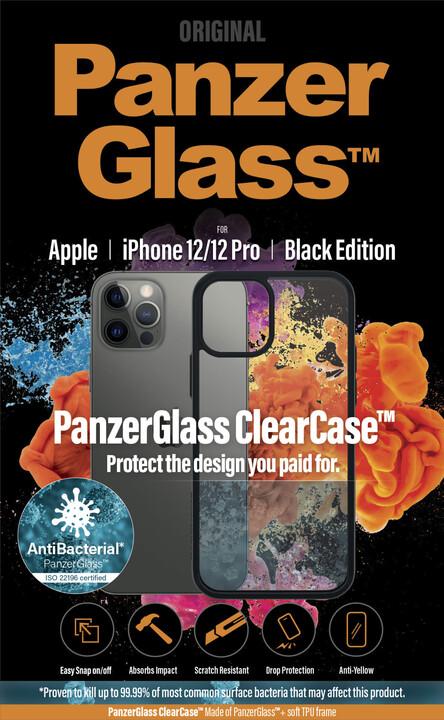 """PanzerGlass ochranný kryt ClearCase pro Apple iPhone 12/ 12 Pro 6.1"""", antibakteriální, černá"""