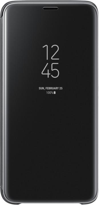 Samsung flipové pouzdro Clear View se stojánkem pro Samsung Galaxy S9, černé